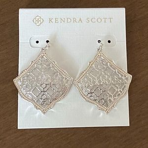 Kendra Scott Kristen Siver Drop Earrings NWT